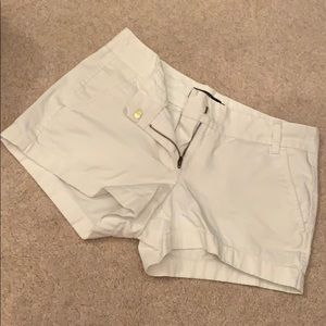 White J.Crew chino shorts